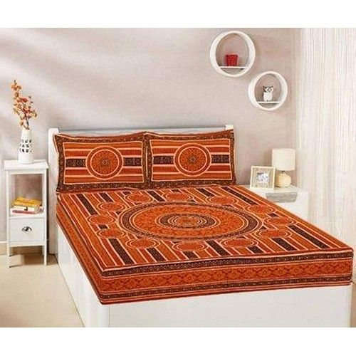 Printed Cotton Queen Size Bed sheet 02