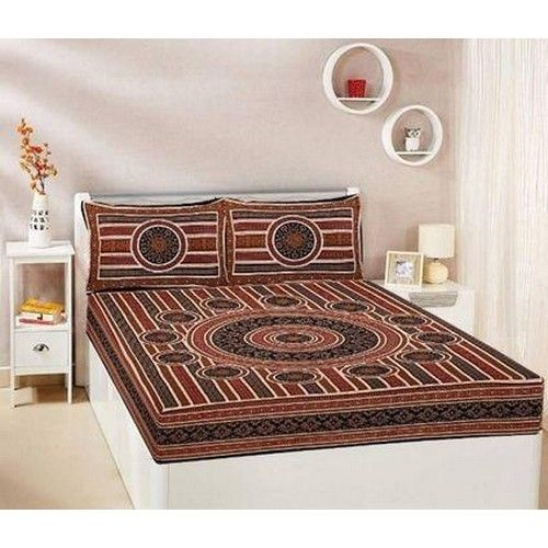Printed Cotton Queen Size Bed sheet 04