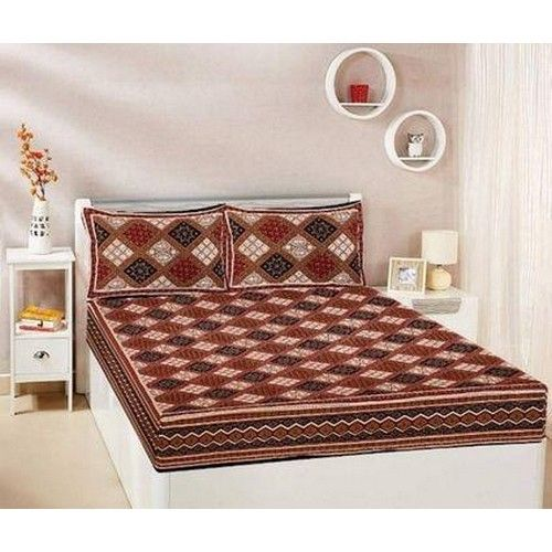 Printed Cotton Queen Size Bed sheet 08