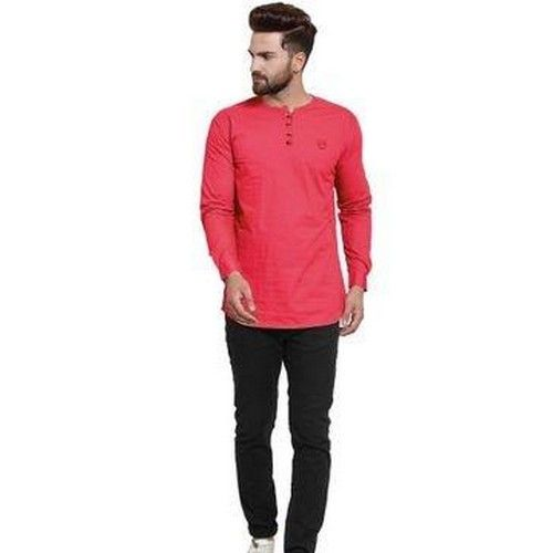 Stylish Solid Cotton Kurtas For Men 02