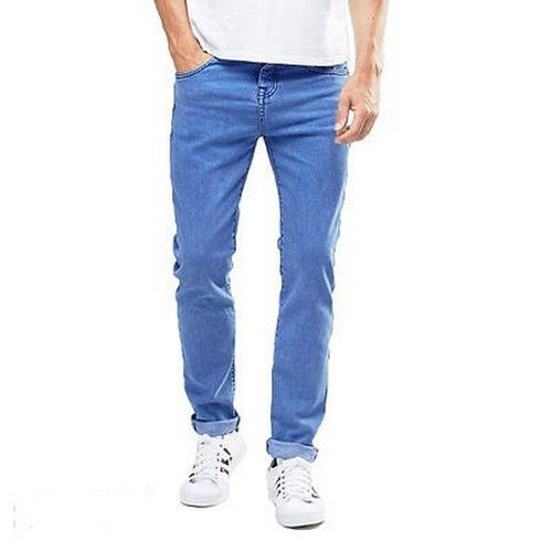 Men Cotton Blend Regular Fit Jeans 2