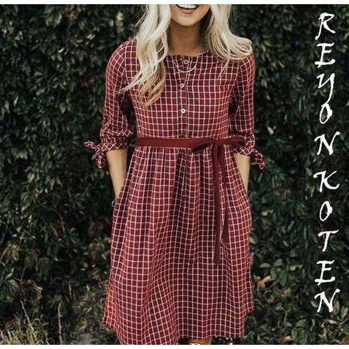Attractive Fancy Poly Rayon Women Dresses 3