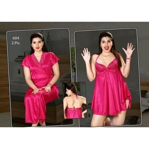 Fancy Satin Night Dresses 02