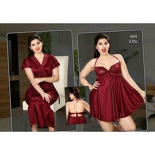 Fancy Satin Night Dresses 05