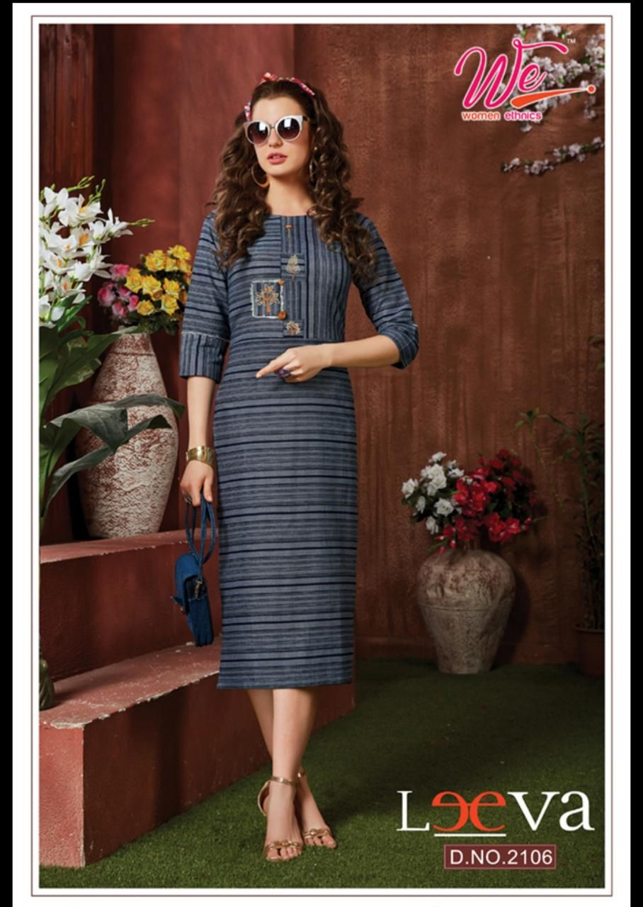 8 PCS CATALOGUE  LEEVA BRAND KURTI